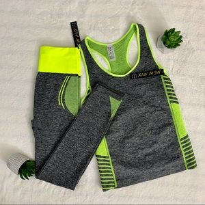 New Mix Lime Green Workout Set